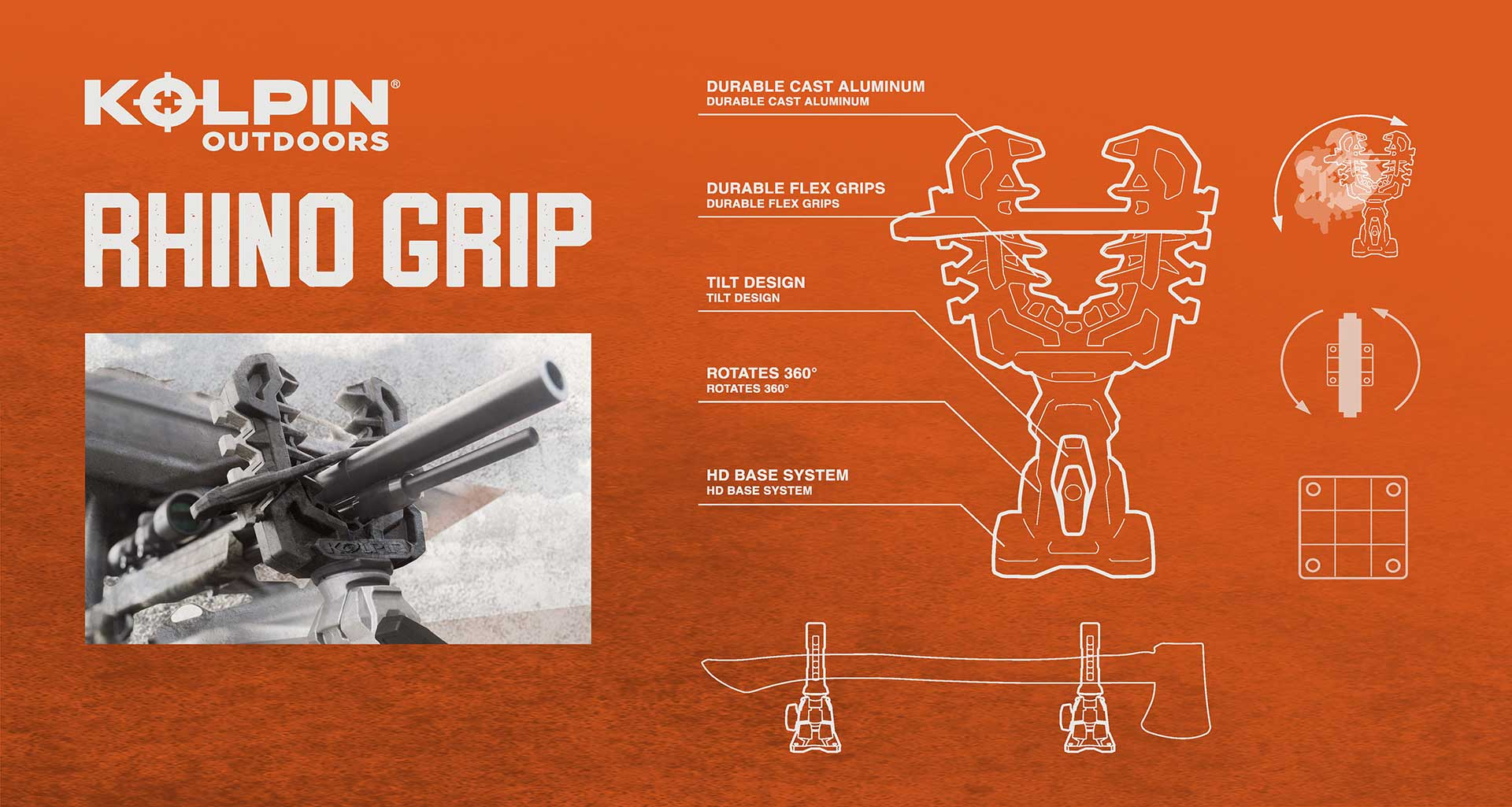 Kolpin Outdoors Brand rhino grips graphic design system
